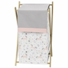 Pink, Grey and Gold Baby Kid Clothes Laundry Hamper for Unicorn Collection by Sweet Jojo Designs