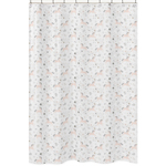 Pink, Grey and Gold Bathroom Fabric Bath Shower Curtain for Unicorn Collection by Sweet Jojo Designs