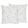 Pink, Grey and Gold Decorative Accent Throw Pillows for Unicorn Collection by Sweet Jojo Designs - Set of 2