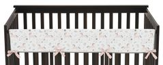 Pink, Grey and Gold Long Front Crib Rail Guard Baby Teething Cover Protector Wrap for Unicorn Collection by Sweet Jojo Designs