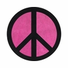 Pink Groovy Peace Sign Tie Dye Accent Floor Rug