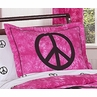 Pink Groovy Peace Sign Tie Dye Pillow Sham