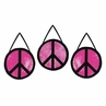 Pink Groovy Peace Sign Tie Dye Wall Hanging Accessories by Sweet Jojo Designs