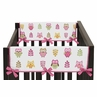 Pink Happy Owl Baby Crib Side Rail Guard Covers by Sweet Jojo Designs - Set of 2