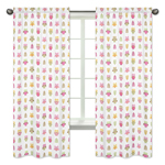 Pink Happy Owl Collection Window Treatment Panels by Sweet Jojo Designs - Set of 2
