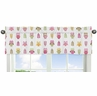 Pink Happy Owl Collection Window Valance by Sweet Jojo Designs