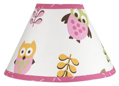 Pink Happy Owl Lamp Shade by Sweet Jojo Designs - Click to enlarge