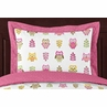 Pink Happy Owl Pillow Sham by Sweet Jojo Designs