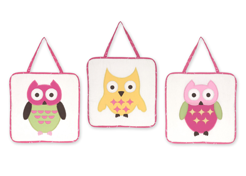 Pink Happy Owl Wall Hanging Accessories By Sweet Jojo Designs Only 24 99