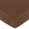 Pink Paisley Fitted Crib Sheet for Baby and Toddler Bedding Sets by Sweet Jojo Designs - Solid Brown
