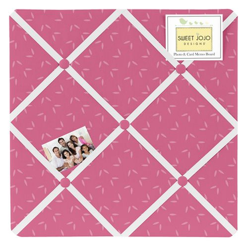 Pink Tonal Hatch Print Fabric Memory/Memo Photo Bulletin Board for Happy Owl Collection - Click to enlarge