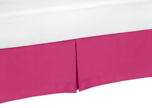 Pink Twin Bed Skirt for Hot Pink and White Chevron Childrens and Teen Bedding Sets - Click to enlarge