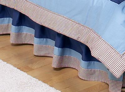 Playball Sports Bed Skirt for Toddler Set by Sweet Jojo Designs - Click to enlarge