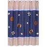 Playball Sports Kids Bathroom Fabric Bath Shower Curtain