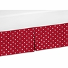 Polka Dot Crib Bed Skirt for Little Ladybug Bedding Sets