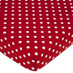 Polka Dot Ladybug Fitted Red Crib Sheet  - By Sweet Jojo Designs