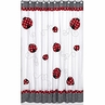Polka Dot Ladybug Kids Bathroom Fabric Bath Shower Curtain