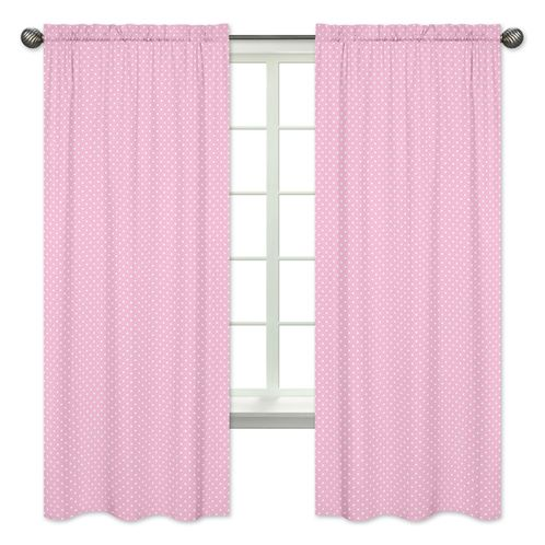 Polka Dot Window Treatment Panels for Pink, Gray and Turquoise Skylar Collection - Set of 2 - Click to enlarge