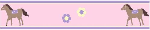 Pretty Pony Baby and Childrens Horse Wall Border by Sweet Jojo Designs - Click to enlarge