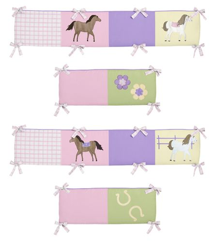 Pretty Pony Collection Crib Bumper by Sweet Jojo Designs - Click to enlarge