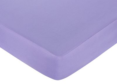 Pretty Pony Fitted Crib Sheet for Baby and Toddler Bedding Sets by Sweet Jojo Designs - Solid Purple - Click to enlarge