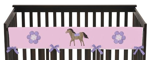 Pretty Pony Horse Baby Crib Long Rail Guard Cover by Sweet Jojo Designs - Click to enlarge