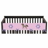 Pretty Pony Horse Baby Crib Long Rail Guard Cover by Sweet Jojo Designs