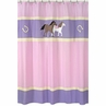 Pretty Pony Horse Kids Bathroom Fabric Bath Shower Curtain