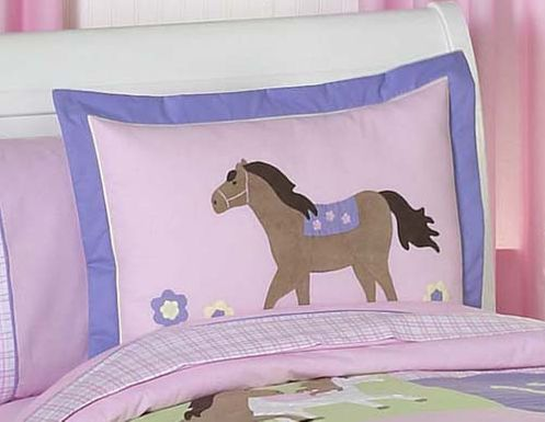 Pretty Pony Horse Pillow Sham - Click to enlarge