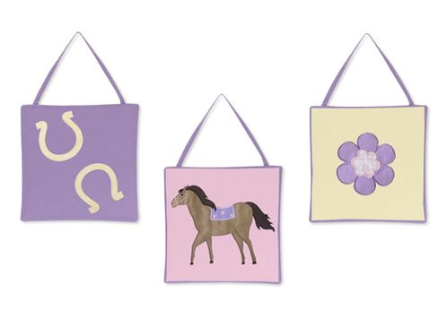 Pretty Pony Horse Wall Hanging Accessories by Sweet Jojo Designs - Click to enlarge