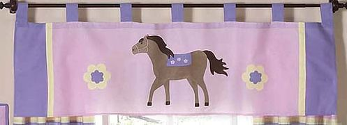 Pretty Pony Horse Window Valance by Sweet Jojo Designs - Click to enlarge