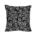Purple and Black Kaylee Decorative Accent Throw Pillow by Sweet Jojo Designs