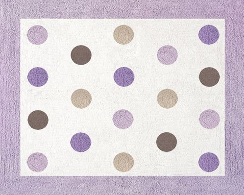 Purple and Brown Mod Dots Accent Floor Rug - Click to enlarge
