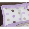 Purple and Brown Mod Dots Pillow Sham