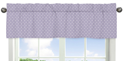Purple and White Polka Dot Window Valance for Sloane Collection