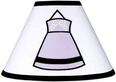 Purple, Black and White Princess Lamp Shade by Sweet Jojo Designs - Click to enlarge