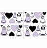 Purple, Black and White Princess Peel and Stick Wall Decal Stickers Art Nursery Decor by Sweet Jojo Designs - Set of 4 Sheets