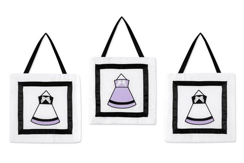 Purple, Black and White Princess Wall Hanging Accessories by Sweet Jojo Designs - Click to enlarge