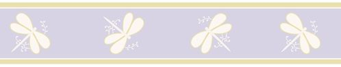 Purple Dragonfly Dreams Baby and Kids Wall Border by Sweet Jojo Designs - Click to enlarge