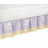 Purple Dragonfly Dreams Bed Skirt for Toddler Set by Sweet Jojo Designs