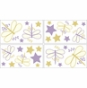 Purple Dragonfly Dreams Peel and Stick Wall Decal Stickers Art Nursery Decor by Sweet Jojo Designs - Set of 4 Sheets