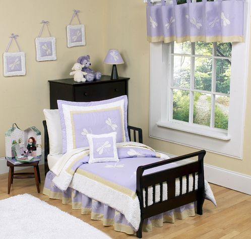 Purple Dragonfly Dreams Toddler Bedding - 5 pc set - Click to enlarge