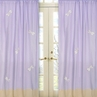 Purple Dragonfly Dreams Window Treatment Panels - Set of 2