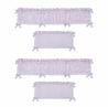 Purple Floral Rose Girl Baby Nursery Crib Bumper Pad by Sweet Jojo Designs - Solid Light Lavender Flower Luxurious Elegant Princess Vintage Boho Shabby Chic Luxury Glam High End Ruffle Roses