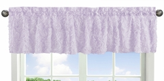 Purple Floral Rose Window Treatment Valance by Sweet Jojo Designs - Solid Light Lavender Flower Luxurious Elegant Princess Vintage Boho Shabby Chic Luxury Glam High End Roses