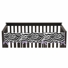 Purple Funky Zebra Baby Crib Long Rail Guard Cover by Sweet Jojo Designs