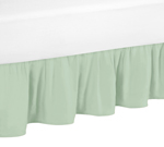 Queen Bed Skirt for Gold, Mint, Coral and White Ava Bedding Sets