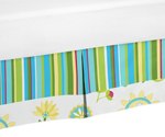 Queen Bed Skirt for Turquoise and Lime Layla Bedding Sets by Sweet Jojo Designs