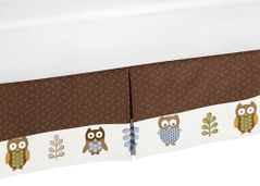 Queen Kids Childrens Bed Skirt for Night Owl Bedding Sets by Sweet Jojo Designs