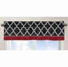 Red and Black Trellis Collection Window Valance by Sweet Jojo Designs